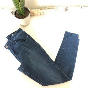 William Rast Skinny Ankle Dark Wash Jeans, Size 27